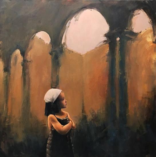 L'infant davant l'art Lienzo Óleo Figura