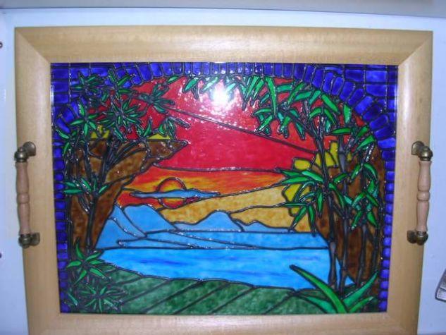 Bandeja vitral Decoración Muebles y Objetos de Madera
