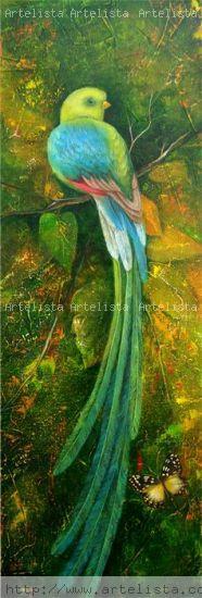La extinción del Quetzal Acrílico Lienzo Animales