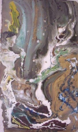 aceptando lo desconocido Panel Industrial Figure Painting