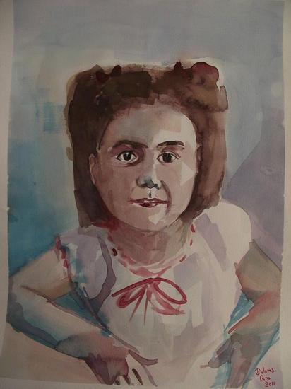 retrato acuarela ana