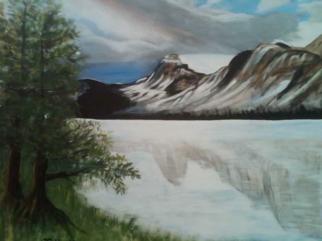 Espejo de la montaña Acrílico Lienzo Paisaje