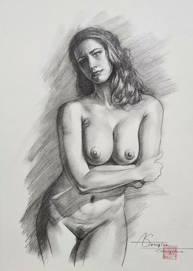 Drawing- Female nude#20727 Lápiz