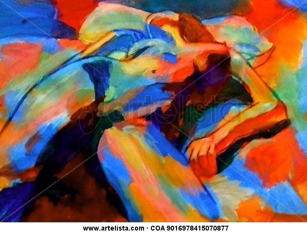 Restful nude Lienzo Acrílico Figura