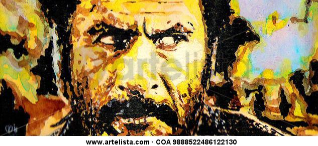 Eli Wallach Paper Ink Portrait
