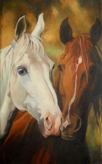 konie Lienzo Animales Óleo