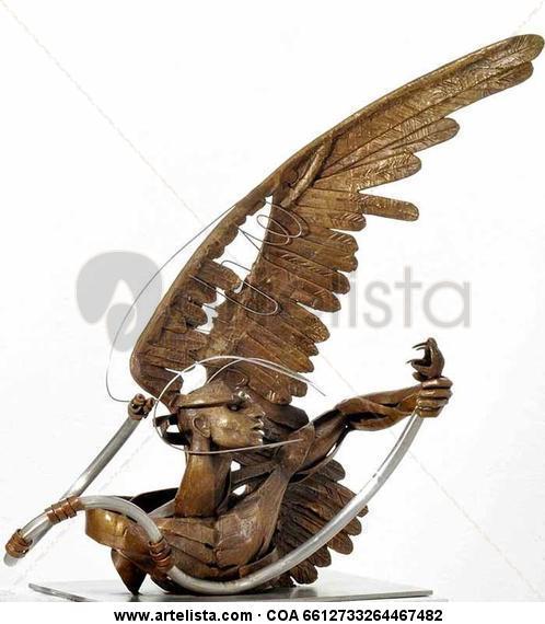 Caballero águila Bronce Figurativa