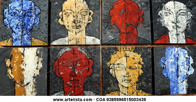 ROSTROS Figure Painting Acrylic Canvas