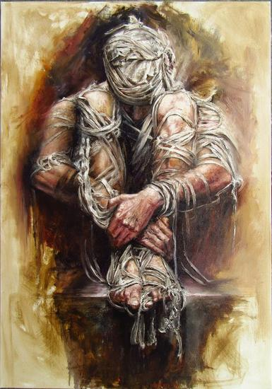 mummy Óleo Retrato Lienzo
