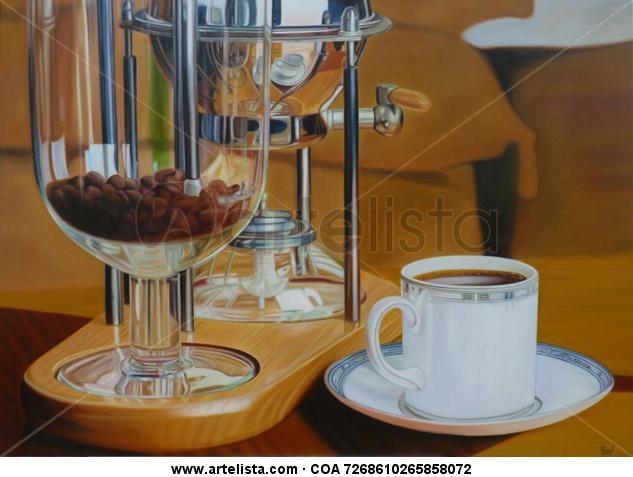 Sabor a café Óleo Bodegones Tela