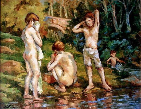 bañistas