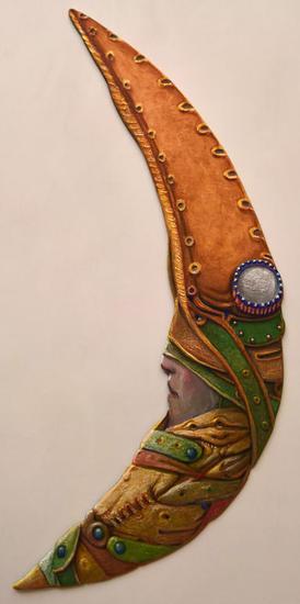 DOCTOR DE LA PLAGA Moonerang - ( Listo para colgar ) Madera Figurativa