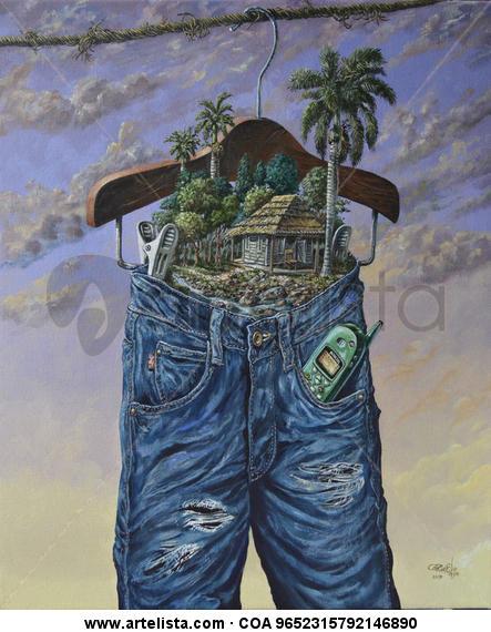 Jeans! Lienzo Acrílico Paisaje