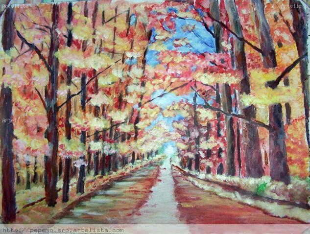 otoño Acrylic Canvas Landscaping