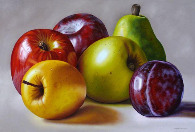 Frutas Frías Óleo Lienzo Bodegones