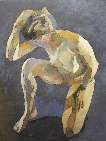 Desnudo I Oil Nude Paintings Panel
