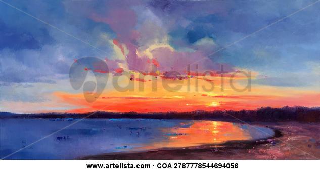 Sky in Dawn 258 Paisaje Óleo Lienzo