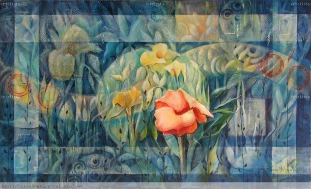 conceptáculo #6 de la serie El jardín de las delicias Óleo Lienzo Otros