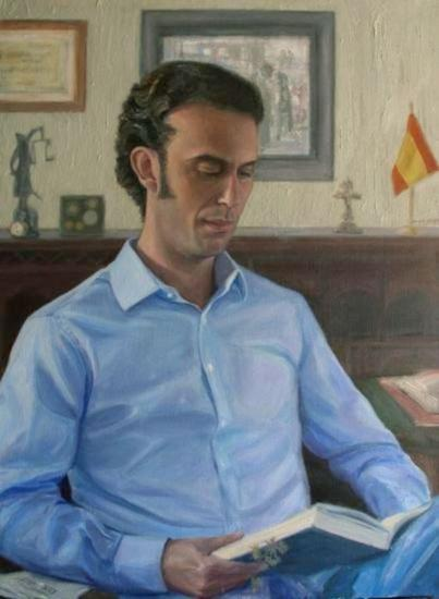 El español. Lienzo Óleo Retrato