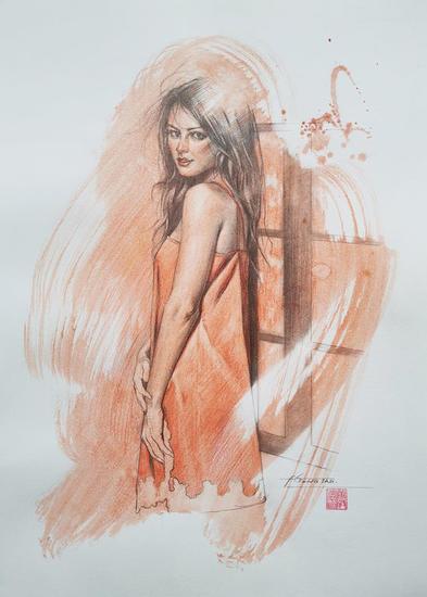 Drawing- Beautiful lady Lápiz