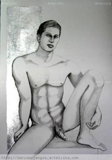 Jorge en mi estudio Grafito