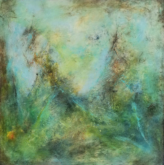 This is not a landscape Others Mixed media Canvas