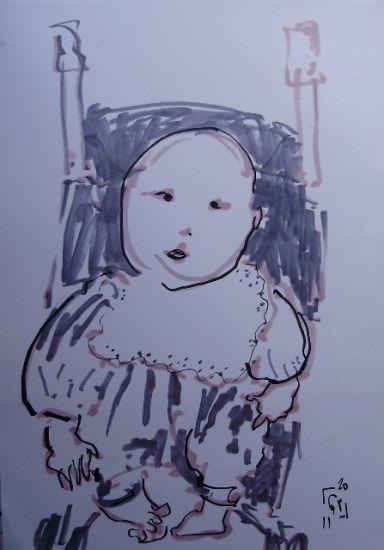 Bebé Felt-tip pen Paper Figure Painting