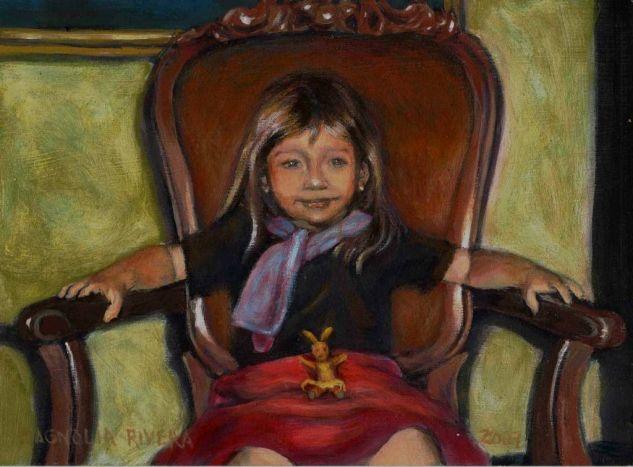 Dueña del Mundo Acrylic Panel Portrait