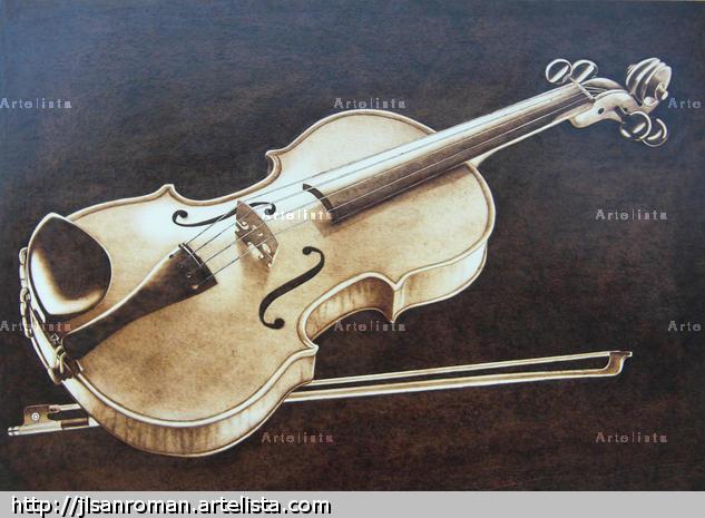 Violin Huecograbado