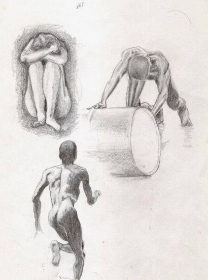 desnudos - escenas- esbozos Lápiz