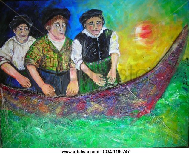 Pescadores Marina Otros Lienzo