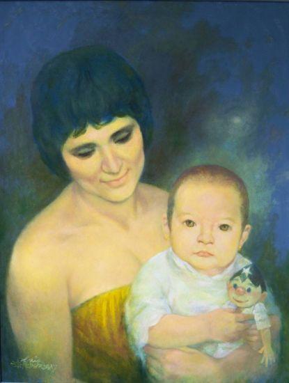 MERY Y SASKIA Oil Canvas Portrait