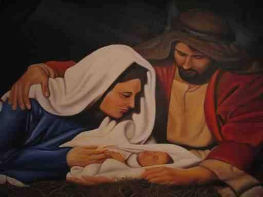 La Sagrada Familia Óleo Lienzo Retrato