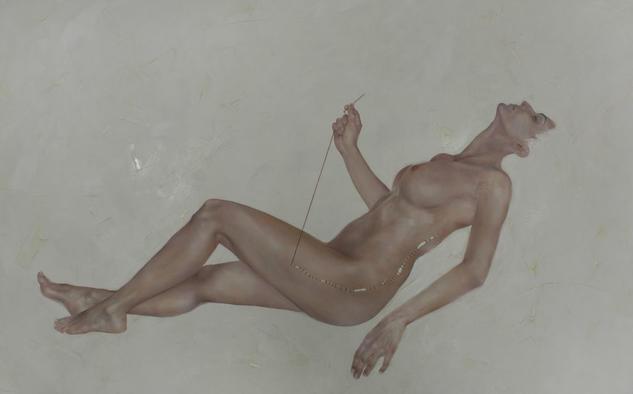 Una prenda nueva Desnudos Óleo Lienzo