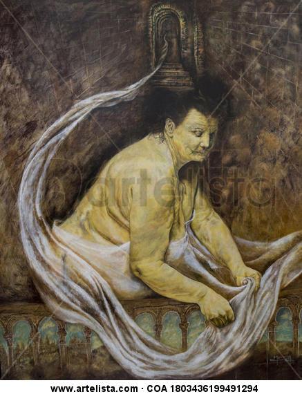 LOS ARCOS Acrylic Figure Painting Panel