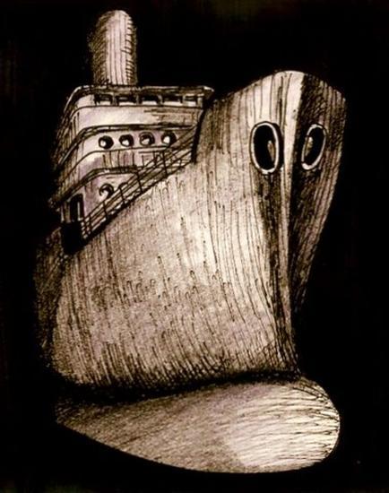 dark ship Tinta Lienzo Otros