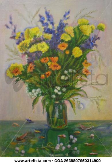 Le bouquet Lienzo Óleo Floral