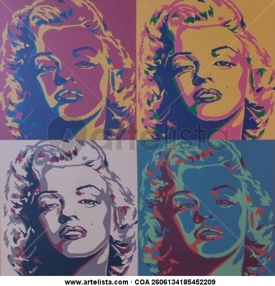 Marilyn Monroe_Pop Art Lienzo Acrílico Retrato