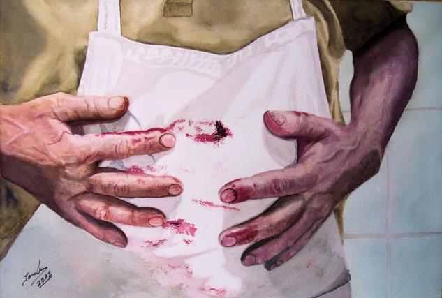 el carnicero Papel Acuarela Figura