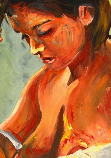 ----------- Cartulina Óleo Desnudos