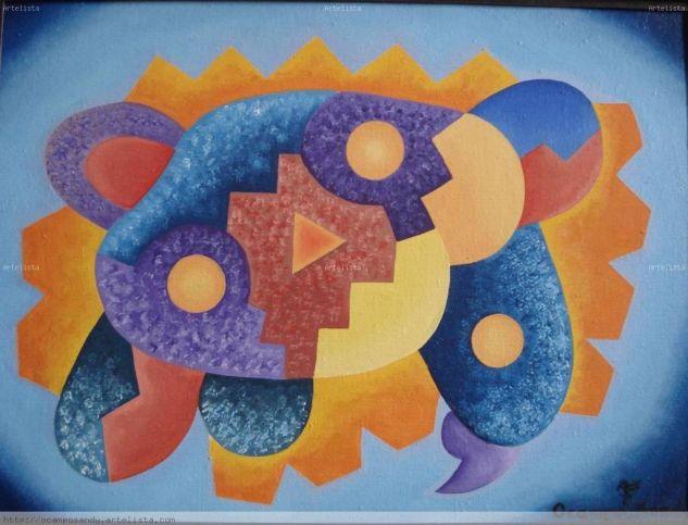 abstracto Andino Boliviano 40 Lienzo Óleo Otros
