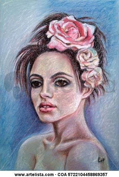 Melancolía 2 Papel Pastel Retrato