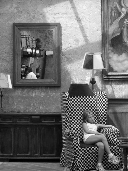 la espera Blanco y Negro (Digital) Arquitectura e interiorismo