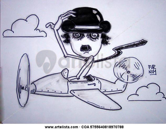Chaplin Piloto Lápiz