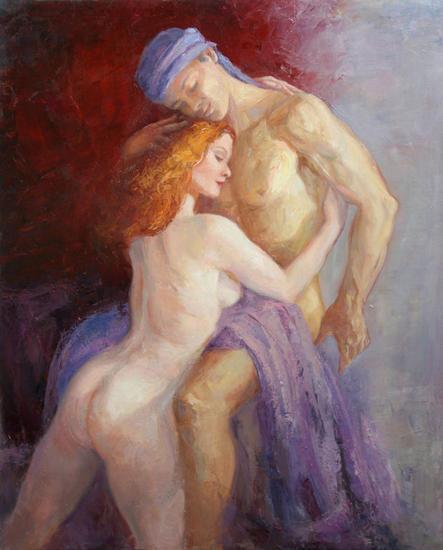 Lovers Lienzo Óleo Desnudos