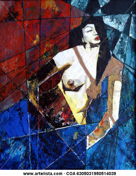 Serie 01 - A. Querido abismo perfumado Canvas Oil Nude Paintings