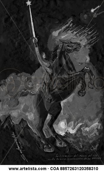 La guardiana del monte del Rey (1) Técnica Mixta