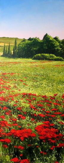 Amapolas Landscaping Oil Canvas
