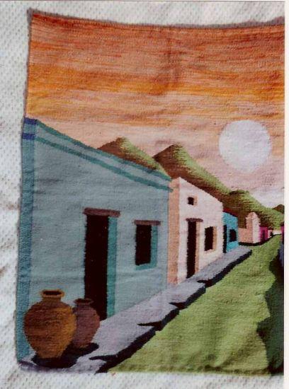 tapices en telar hecho a mano