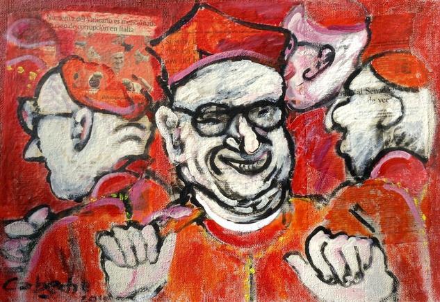 Los alegres cardenales. Otros Acrílico Retrato